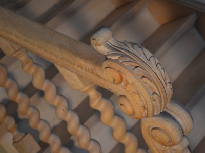 Straal en schilder Trap uit rustieke eik