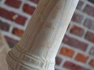Straal en schilder - Zandstralen van een geschilderde trap